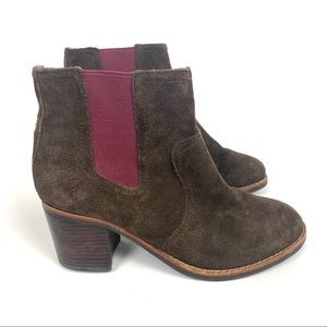 Sperry Marlow Brown Suede Chelsea Bootie Size 6